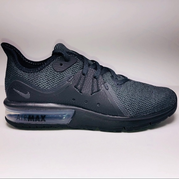 a092d2abe4217 Womens Nike Air Max Sequent 3 Black Grey Sneakers